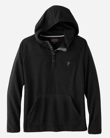 POLAR FLEECE HOODIE, BLACK, large
