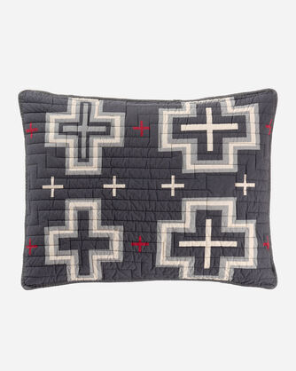 ADDITIONAL VIEW OF SAN MIGUEL REVERSIBLE QUILT SET IN CHARCOAL/TAN