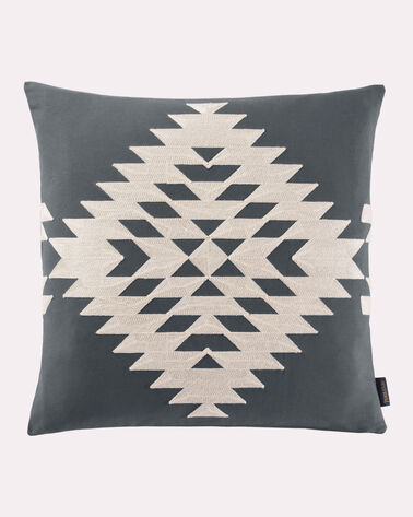 RANCHO ARROYO SQUARE EMBROIDERED PILLOW, GREY, large