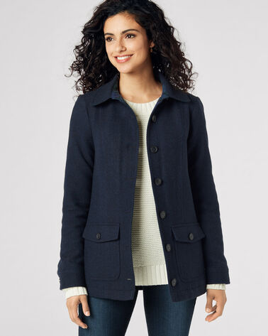 WOOL FIELD COAT, NAVY, large