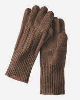 CABLE GLOVES IN NUTMEG