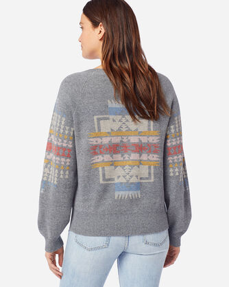 ALTERNATE VIEW OF WOMEN'S WEST BEACH COTTON SWEATER IN SOFT GREY HEATHER
