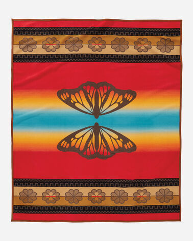 ADDITIONAL VIEW OF BUTTERFLY BLANKET IN BROWN