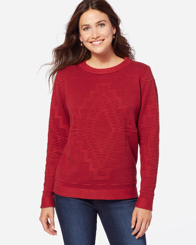 DIAMOND LAKE PULLOVER, RED ROCK, large