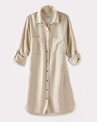 TENCEL SHIRTDRESS, FOG, large
