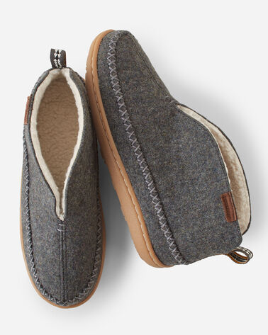 WOMEN'S MOUNTAIN MID SLIPPERS, GREY HEATHER, large