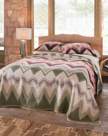 ADDITIONAL VIEW OF BEARGRASS MOUNTAIN BLANKET IN TAN MULTI