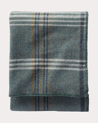ECO-WISE WOOL PLAID/STRIPE BLANKET, SHALE BLUE PLAID, large