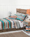 ADDITIONAL VIEW OF TURQUOISE RIDGE BLANKET IN TURQUOISE