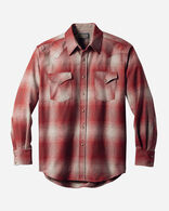 FITTED SNAP-FRONT CANYON SHIRT, RED/TAN OMBRE, large