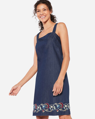 TALA EMBROIDERED APRON DRESS
