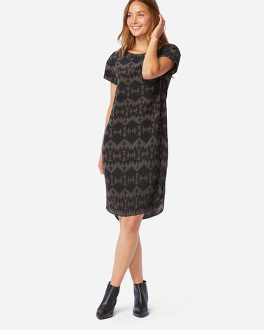 SONORA SILK DRESS IN BLACK MULTI SONORA