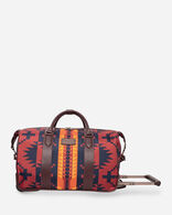 SPIDER ROCK ROLLING DUFFEL BAG IN RUST/NAVY