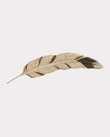 GOLDEN EAGLE FEATHER WALL ART, MULTI, large