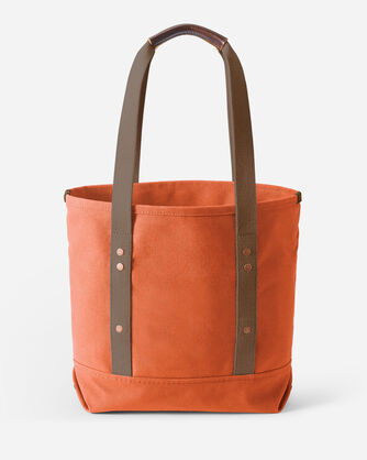 ALTERNATE VIEW OF CANVAS TOTE IN TERRA COTTA