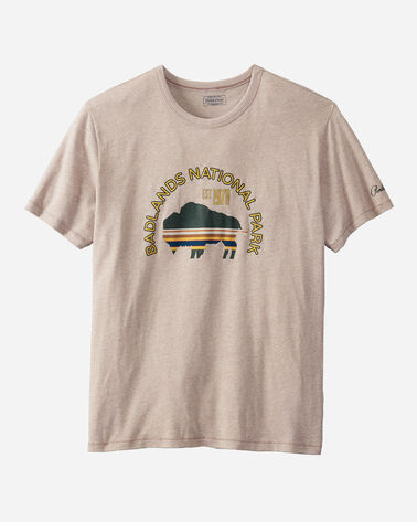 BADLANDS NATIONAL PARK TEE IN TAUPE BADLANDS