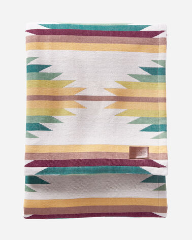 FALCON COVE WOVEN THROW IN TAN MULTI