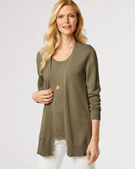 SYLVAN CARDIGAN, SEAGRASS, large