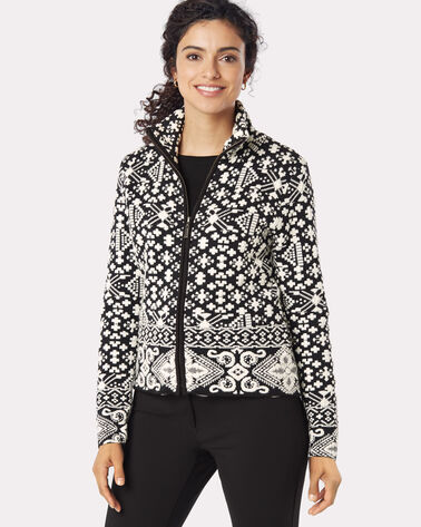 ANYA CARDIGAN, BLACK/WHITE, large