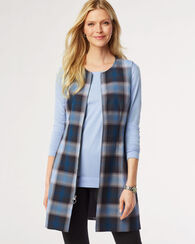 PLAID WHITNEY VEST, BLACK/BLUE, large