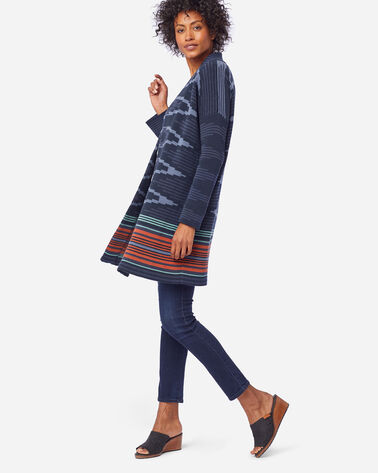 WOMEN'S NORA COTTON CARDIGAN IN NAVY SKYLINE