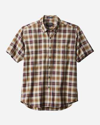 SHORT-SLEEVE WOOL-LIN SHIRT