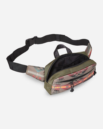 ALTERNATE VIEW OF BASKET MAKER CANOPY CANVAS WAIST PACK IN OLIVE