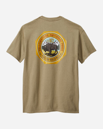 ALTERNATE VIEW OF MEN'S YELLOWSTONE PARK TEE IN OLIVE