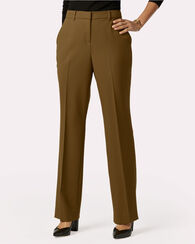 SEASONLESS WOOL STRAIGHT LEG PANTS, BRONZE, large