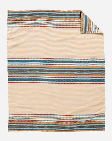 ESCALANTE RIDGE COTTON THROW, CAMEL, large