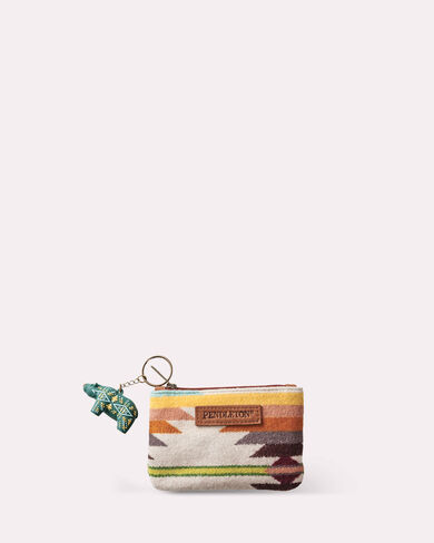 FALCON COVE ZIP POUCH WITH KEYCHAIN, TAN MULTI, large