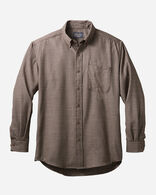 AIRLOOM MERINO SIR PENDLETON SHIRT IN OLD BROWN SMALL CHECK