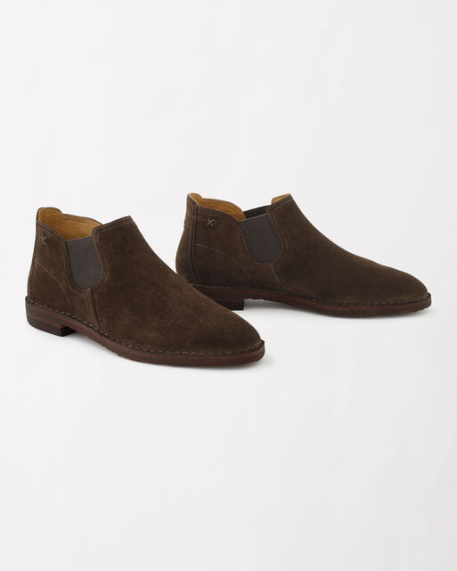 ITALIAN SUEDE ALLISON ANKLE BOOTIES