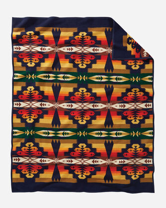 ADDITIONAL VIEW OF TUCSON BLANKET IN NAVY