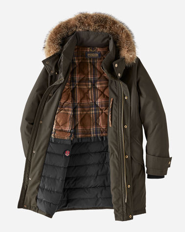 MEN'S BRYCE HOODED DOWN PARKA, BADLANDS OLIVE, large