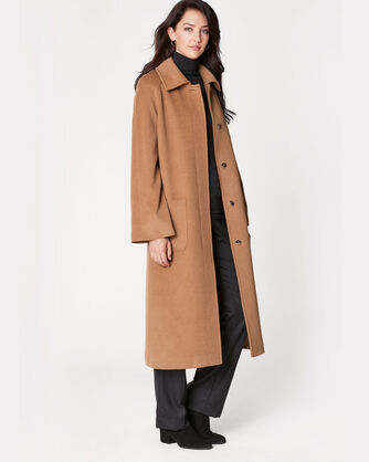 LONG REEFER COAT, CAMEL, large