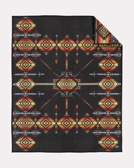 PUEBLO DWELLING HERITAGE BLANKET, DARK CHARCOAL, large