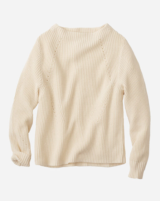 EMILIE PULLOVER SWEATER, IVORY, large