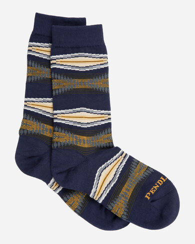 CRESCENT BAY CREW SOCKS IN DARK BLUE