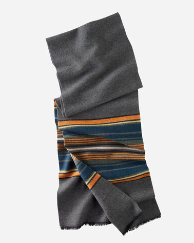 OLYMPIC STRIPE SCARF IN GREY