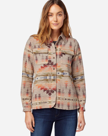 WOMEN'S LIMITED EDITION JACQUARD BOARD SHIRT IN TAN JUNIPER MESA