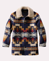 TUCSON BROWNSVILLE SHEARLING COAT, TUCSON NAVY, large