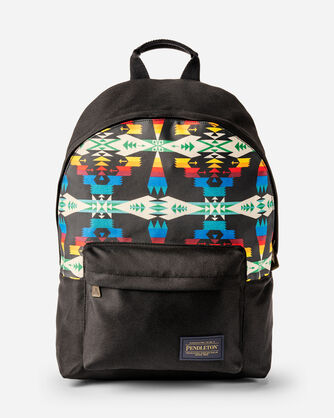 TUCSON CANOPY CANVAS BACKPACK IN BLACK/MULTI