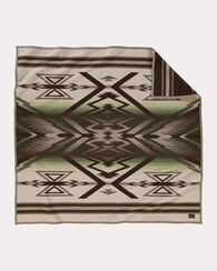 PONDEROSA PINE THROW, TAN/GREEN, large