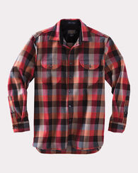 BUCKLEY SHIRT, RED/GREY CHECK, large
