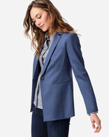 WOMEN'S SEASONLESS WOOL BLAZER IN PRUSSIAN BLUE