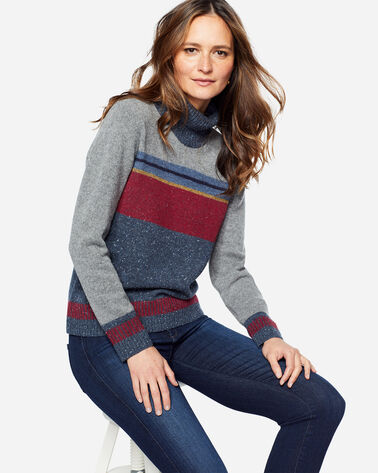 STRIPED WOOL TURTLENECK, GREY, large