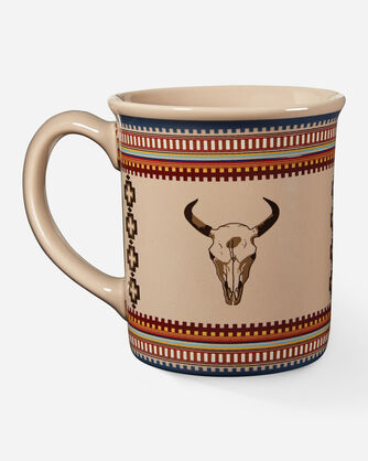 AMERICAN WEST COFFEE MUG IN TAN