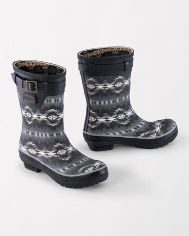 PAPAGO PARK PRINT SHORT BOOTS, BLACK, large