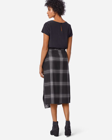 ADDITIONAL VIEW OF FAUX WRAP SKIRT IN GHOST PLAID